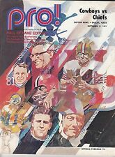 1971 Kansas City Chiefs v Cowboys Program Dallas Season Champs 9/11 Ex 32367
