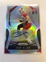 2019 Prizm Zach Allen Rookie Auto Autograph RC Cardinals MCS