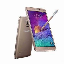 "Gold 5.7"" Samsung Galaxy Note4 Unlocked N910T 32GB 4G LTE 16MP GPS Mobile Phone"