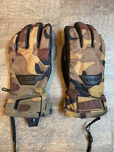 BURTON Gore-Tex Snowboard Gloves Camo Large