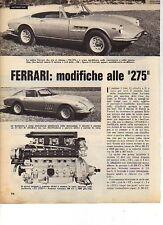 W24 Ritaglio Clipping 1966 Ferrari modifiche alle 275 spider 330 GTS