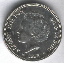 Alfonso XIII 5 Pesetas 1893 PGV @@ E.B.C.@@