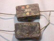 10 Vintage Sangamo CM40392J 3900pF 500V Silver Mica Capacitors