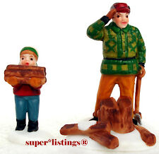 Dept. 56 Woodcutter And Son Set of 2 New England 59682 Free Shipping