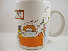 How to Get Along at the Office Coffee Tea Cup Mug Hallmark 1984 I Just Love Here