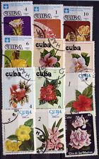 FLEURS    lot de timbres  DIVERS    AE09
