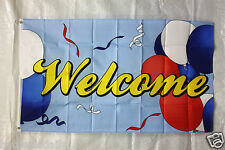 WELCOME BALLOON flag 3'x5' banner store concession business advert FREE SHIPPING