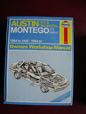 Haynes car manual AUSTIN MONTEGO MG AND VAN=den PLAS