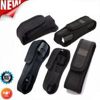 5 Sizes Nylon Flashlight Pouch Torch Light Lamp Holster w/Belt Carry Case Holder