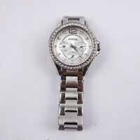 Fossil Womens Watch ES3202 Riley Multi-Function Silver Dial Stainless Steel 38mm