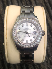 Rolex Ladies Masterpiece/Pearlmaster 18K White Gold/Diamonds/MOP