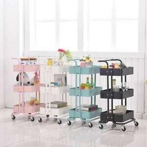 Salon Hairdresser Barber Storage Trolley Beauty Drawer Spa Cart Steel Racks