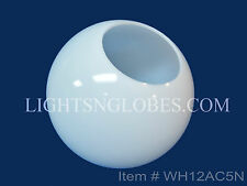 "12"" White Acrylic Round Plastic Light Globe Pole Post Lamp Outdoor Fixture New"