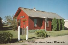 "*Minnesota Postcard-""Greetings From Lucan"" /Museum Depot & Park/ (U2-301)"