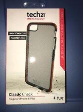 Tech21 iPhone 6 Plus / 6S Plus Smokey Gray Classic Check Flex Impact Cover Case