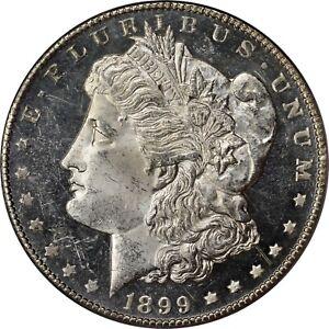 1899-O Morgan Dollar PCGS 63DMPL OGH Old 2 Part holder