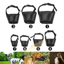 New listing 7pcs Adjustable Breathable Safety Small Medium Large Dog Muzzles for Anti-Biting