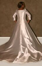 "NWT Size 18 ivory modest 3/4 sleeve bridal gown, Jalis Bridal ""Baylee"" wedding"