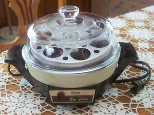 Vintage Retro Oster Automatic Electric Egg Cooker Poacher Model#579-16B EC USA