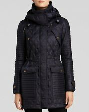 Auth  Burberry Brit  Bosworth Quilted Patchwork Jacket Coat L $895 NEW