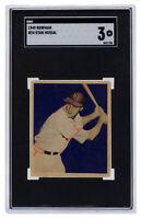 Stan Musial 1949 Bowman #24 St. Louis Cardinals Baseball Card SGC VG 3