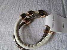 Armband Kunststoff Weiß-Silber verstellbar