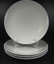 Crate & Barrel Essentials White Set of 4 Dinner Plates Multiple Sets Available