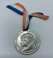 1937 King George VI Aluminum Medal with Original Ribbon