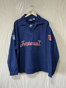 ARSENAL LONDON 1994 1995 DRIL TOP JACKET FOOTBALL SOCCER NIKE VINTAGE sz XXL
