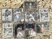 Lot of 9 Topps Bowman Chrome Gavin Lux RC Refractor White Sparkle 2017,2018,2020