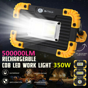 350W Emergency Flood Lamp LED COB Work Light Floodlight Light USB Rechargeable