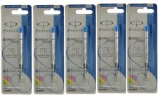 5 x Parker Jotter Classic Ball Point Pen Refills, Blue Ink, Medium 1mm Tip, New