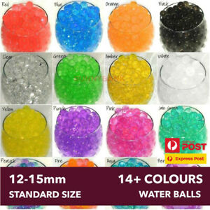 Water Seeds Balls Crystal Soil Jelly Gel Beads For Vase Home Wedding 12-15mm