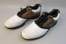 Men's Foot Joy Contour Series White/Brown Leather Golf Shoes Size 9.5 M