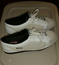 Dexter Mens SST 5 White  Left Handed  Bowling Shoes size 15 m used