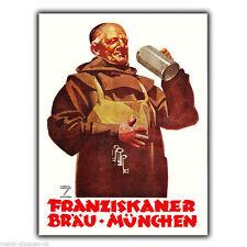 Metal Sign Wall Plaque Franziskaner German Beer Retro Vintage poster Advert