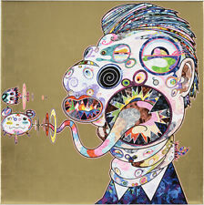 "In stock Takashi Murakami ""Homage to Francis Bacon NO.2"" Gold Ed.300 727"