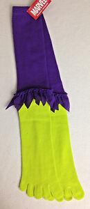 Marvel Super Hero Knee Socks Incredible Hulk Purple/Green Ladies 9 -11 New