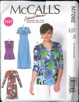 Easy Misses Knit Top Dress Size 16 18 20 22 24 McCalls 7092 Palmer Pletsch Uncut