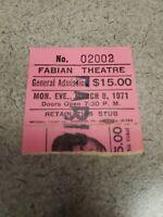 1971 JOE FRAZIER vs. MUHAMMAD ALI Boxing Ticket Stub & Sports Betting Slip