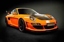 Leinwand Bilder Porsche 911 GT R 3 Orange Auto Sport
