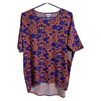 NWT Lularoe Floral Hi-lo Irma Top Shirt Women's Size Small Purple Flowers New