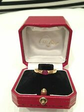 Cartier Ellipse 18k Gold Ruby  Ring