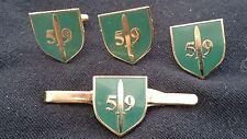 59 Commando Royal Engineers Cufflinks, Badge, Tie Clip Military Gift Set