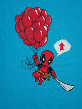 Marvel Comics Dead Pool Deadpool Blue Kawaii Balloons T-Shirt New XL Welovefine
