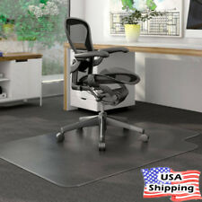 "Office Home Desk PVC Protector Clear Rolling Chair Carpet Floor Mat 48"" x 36"""