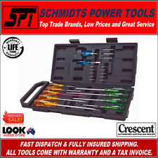 CRESCENT CSD25 SCREWDRIVER & BIT SET 25 PIECE WITH CASE ACETATE HANDLES - NEW