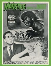 ARTHUR FRANZ  JOANNA MOORE  MONSTER ON THE CAMPUS 1958 RARE SYNOPSIS