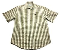 Carhartt Mens Brown Plaid Short Sleeve Button Front Shirt Size Medium