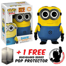 FUNKO POP DESPICABLE ME 2 MINION DAVE VINYL FIGURE + FREE POP PROTECTOR